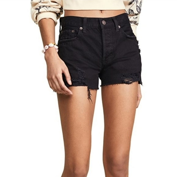 Free People Sofia shorts in black